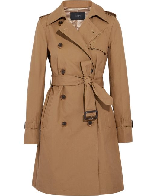 J.Crew | Natural Cotton-canvas Trench Coat | Lyst