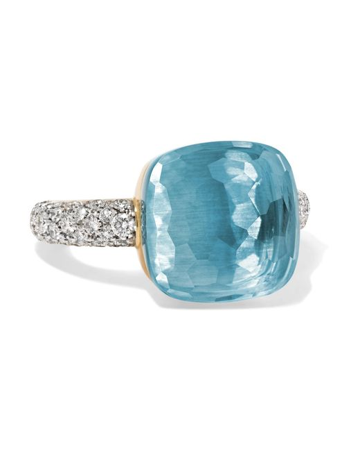 Pomellato | Multicolor Nudo 18-karat White Gold, Topaz And Diamond Ring | Lyst