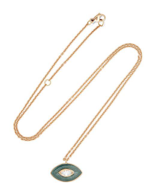Brooke Gregson | Metallic Talisman 18-karat Gold, Diamond And Enamel Necklace | Lyst
