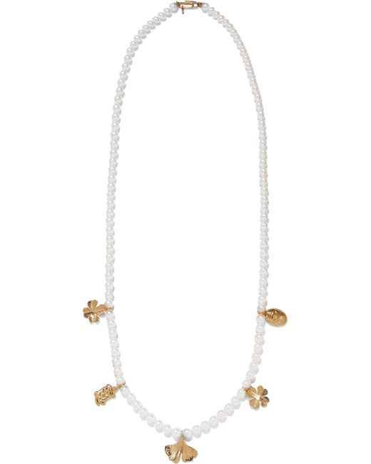 Aurelie Bidermann | Metallic Cheyne Walk Faux Pearl Gold-plated Necklace | Lyst