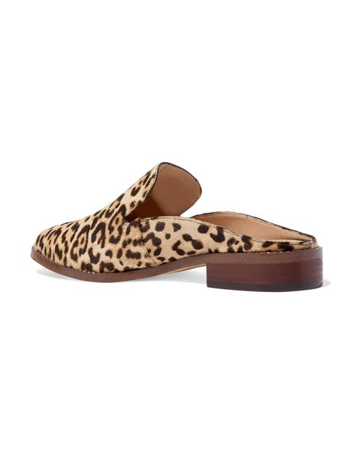 bca2d3838 ... Sam Edelman - Brown Crystal-embellished Leopard-print Calf Hair  Slippers - Lyst ...
