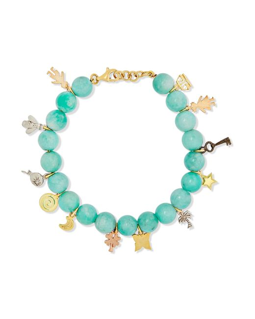 Carolina Bucci | Metallic Recharmed Lucky 18-karat Yellow, Rose And White Gold And Amazonite Bracelet | Lyst