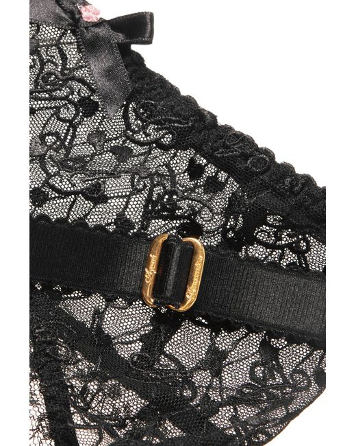 7f23f70a2 ... Agent Provocateur - Black Dorotia Lace-trimmed Embroidered Stretch-tulle  Suspender Belt - Lyst ...
