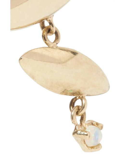 Wwake Formation 14-karat Gold Opal Earrings tr3WF3G