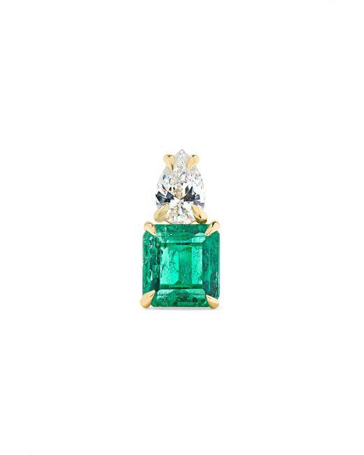 Anita Ko - Metallic 18-karat Gold, Emerald And Diamond Earring - Lyst