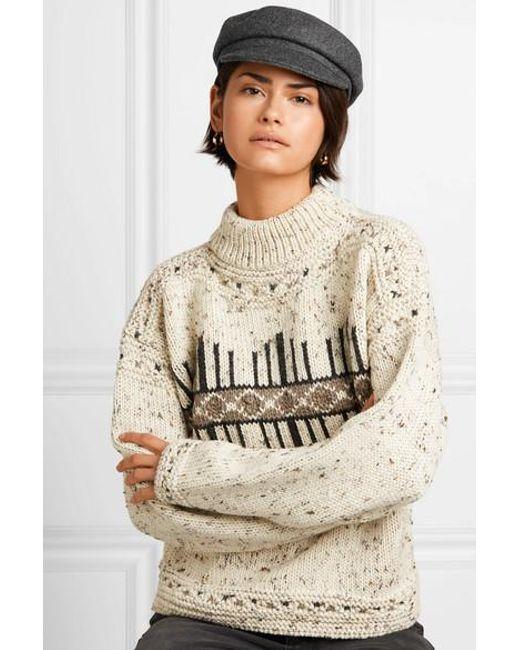 8d9c05eb Isabel Marant Evie Wool-blend Felt Cap in Gray - Save 66% - Lyst