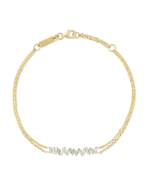Suzanne Kalan - Metallic 18-karat Gold Diamond Bracelet Gold One Size - Lyst