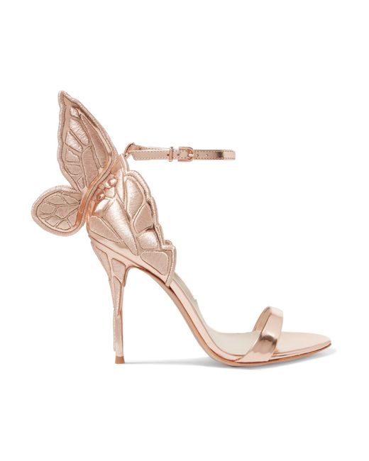 Sophia Webster   Pink Chiara Embroidered Metallic Leather Sandals   Lyst