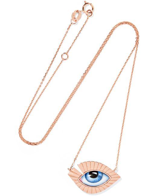 Lito - Metallic Tu Es Partout 14-karat Rose Gold Enamel Necklace - Lyst