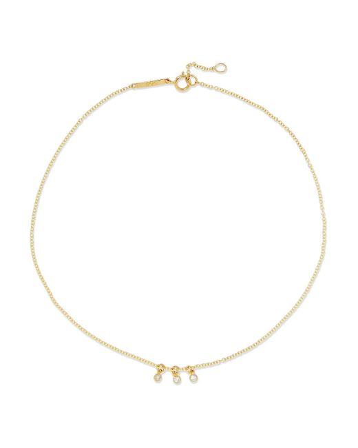 Grace Lee - Metallic Dot 14-karat Gold Diamond Anklet - Lyst