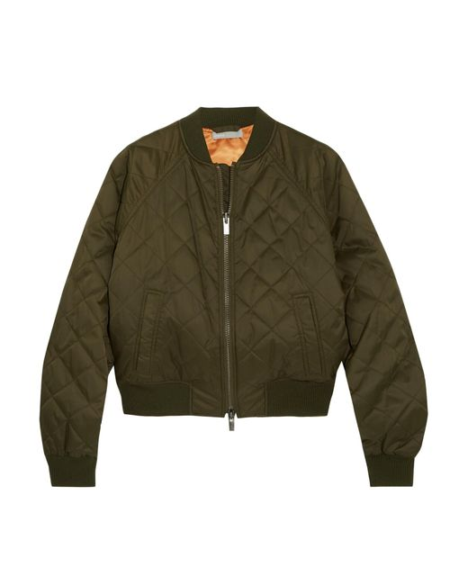 Vince - Green Quilted Shell Bomber Jacket - Lyst