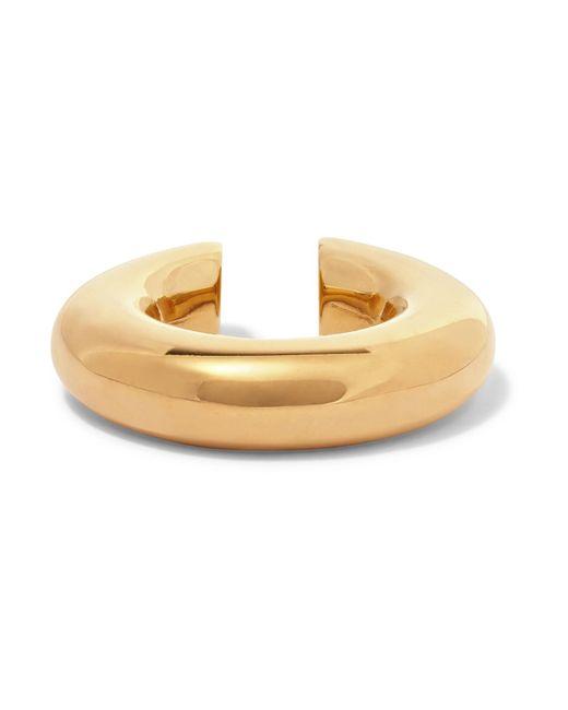 Saskia Diez - Metallic Gold-plated Ear Cuff Gold One Size - Lyst