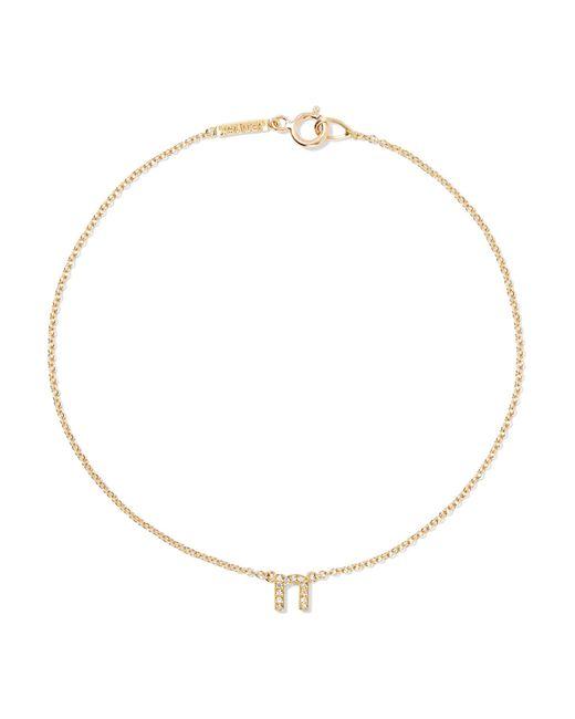 Jennifer Meyer - Metallic Letter 18-karat Gold Diamond Bracelet Gold P - Lyst