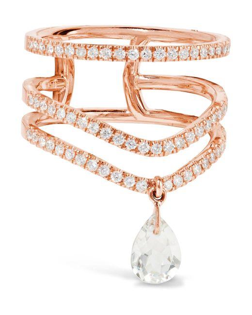 Diane Kordas | Metallic 18-karat Rose Gold, Diamond And Prasiolite Ring | Lyst