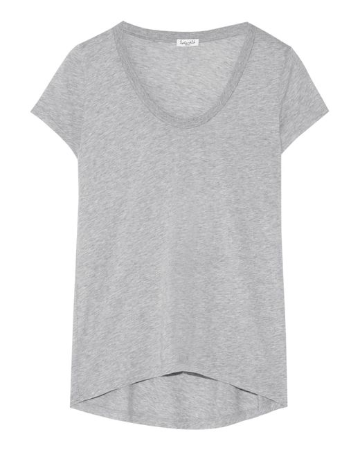 Splendid | Gray Cotton And Modal-blend Jersey T-shirt | Lyst