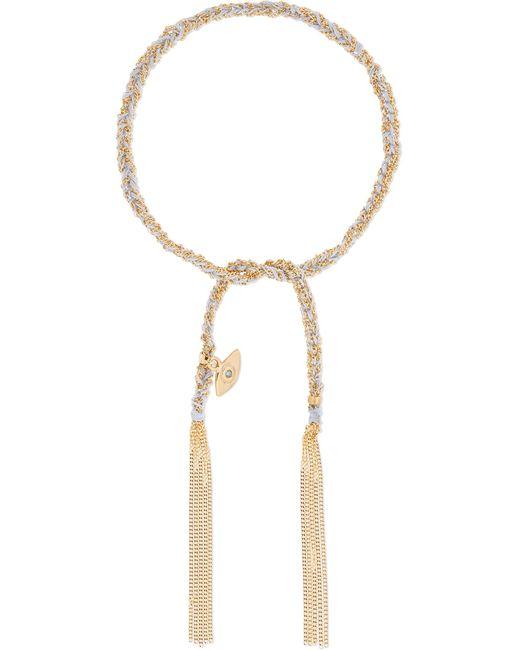Carolina Bucci | Metallic Protection Lucky 18-karat Gold, Diamond And Silk Bracelet | Lyst