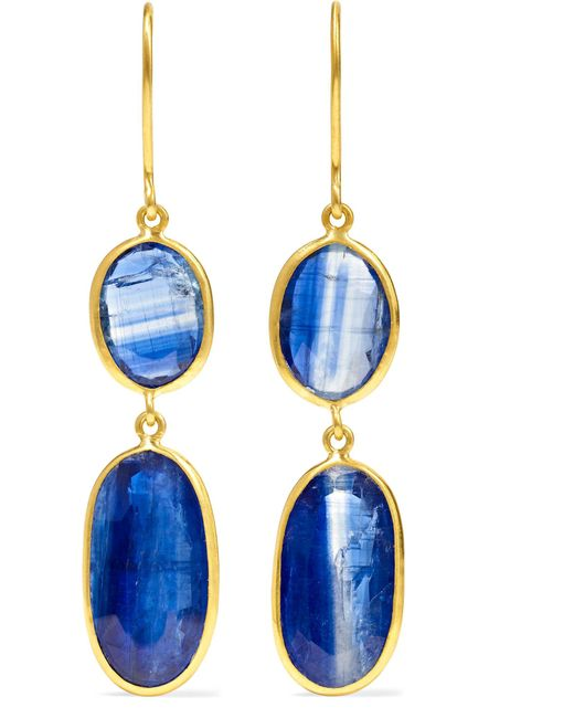 Pippa Small - Metallic 18-karat Gold Kyanite Earrings - Lyst