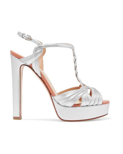 71add2b686a Lyst - Francesco Russo Metallic Leather Platform Sandals in Metallic