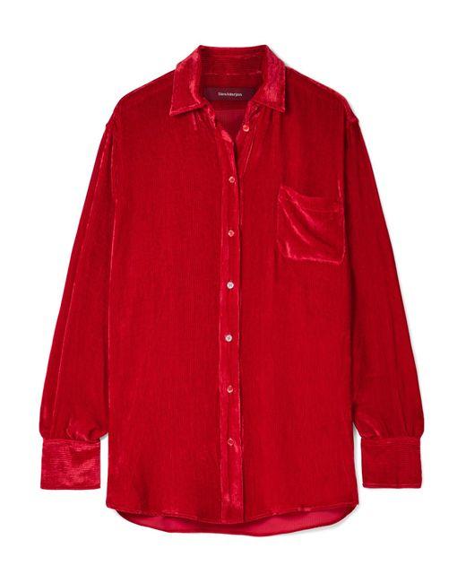Sies Marjan - Red Sander Silk And Cotton-blend Corduroy Shirt - Lyst