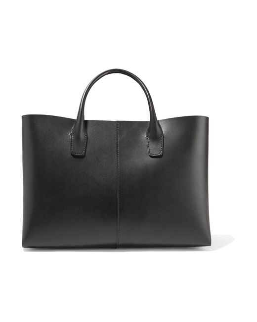 Mansur Gavriel - Black Folded Mini Leather Tote - Lyst