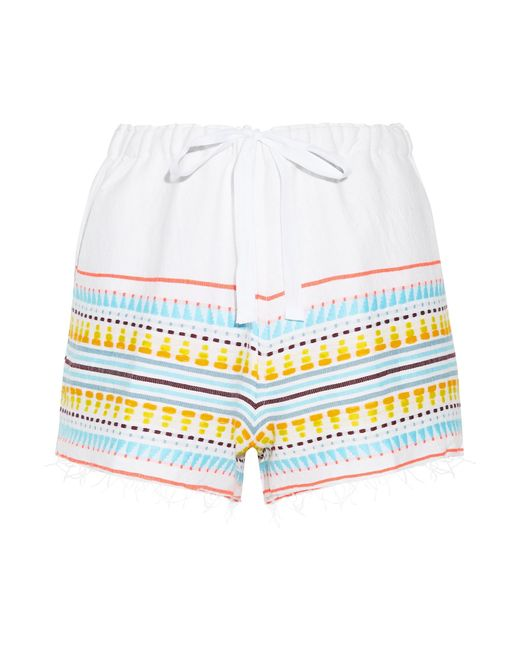 Lemlem - Blue Tabtab Striped Cotton-blend Gauze Shorts - Lyst