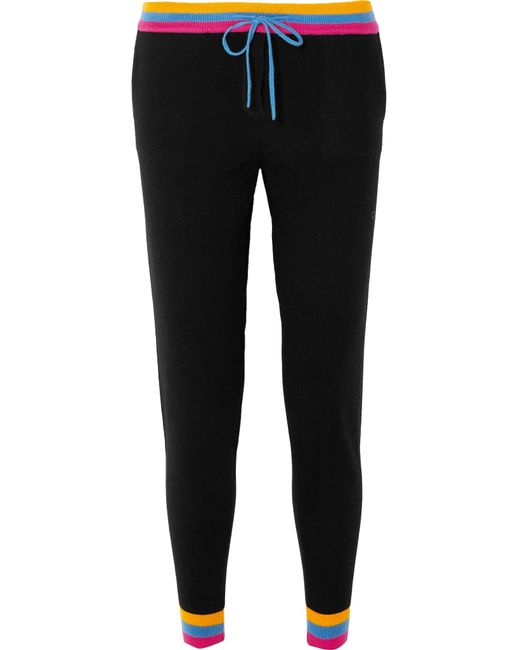Chinti & Parker - Black Cashmere Track Pants - Lyst