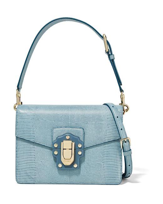 Dolce & Gabbana - Blue Lucia Lizard-effect Leather Shoulder Bag - Lyst