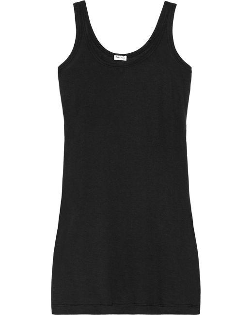 Splendid - Black Cotton And Modal-blend Jersey Tank - Lyst