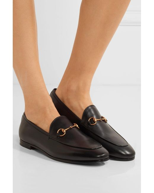 c0c8658d10e ... Gucci - Black Horsebit-detailed Leather Loafers - Lyst ...