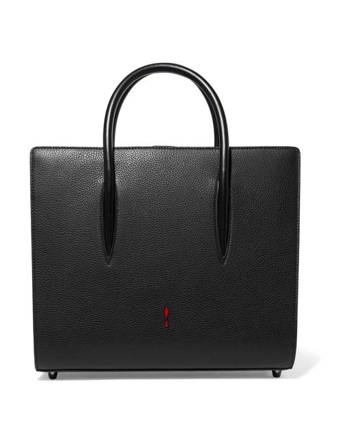 Christian Louboutin - Black Paloma Medium Spiked Matte And Patent-leather Tote - Lyst