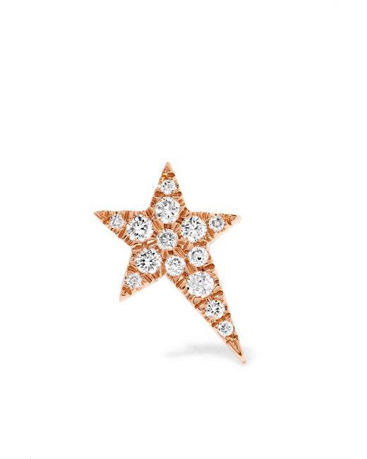 Diane Kordas - Multicolor Star 18-karat Rose Gold Diamond Earring - Lyst