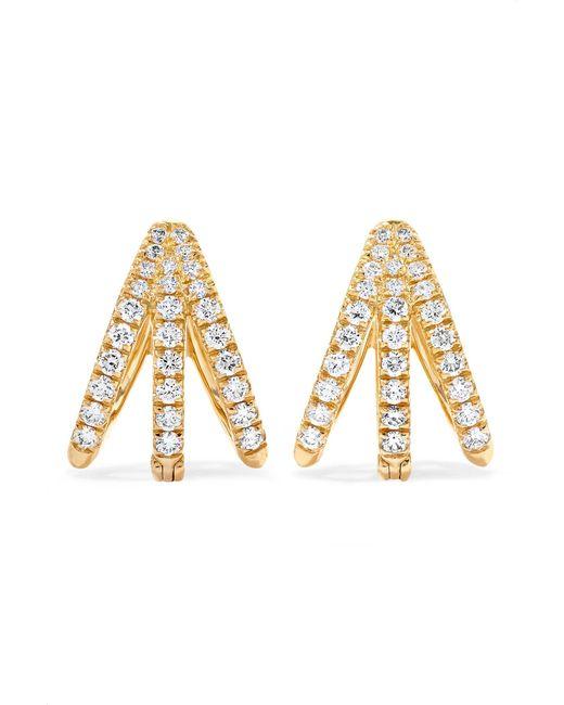 Melissa Kaye - Metallic Cris 18-karat Gold Diamond Earrings - Lyst