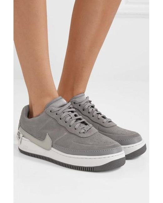 Nike Air Force 1 Jester Suede Sneakers In Gray Lyst