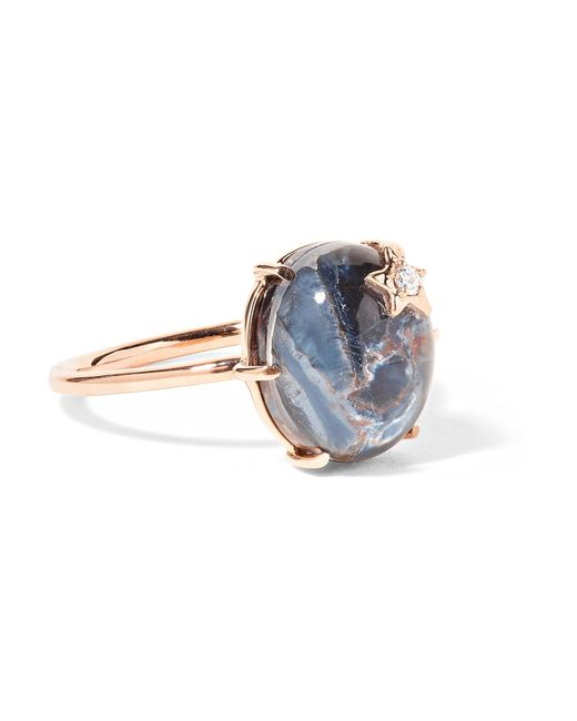 Andrea Fohrman - Metallic Mini Galaxy Star 18-karat Rose Gold Multi-stone Ring - Lyst