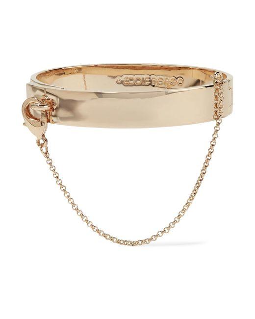 Eddie Borgo | Metallic Safety Chain Gold-plated Bracelet | Lyst