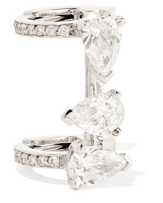 Repossi - Multicolor Serti Sur Vide 18-karat White Gold Diamond Ear Cuff White Gold One Size - Lyst