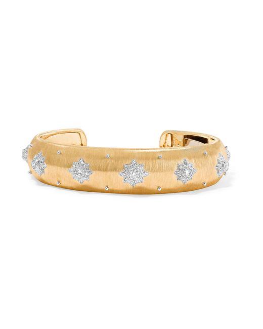 Buccellati | Metallic Macri 18-karat Yellow And White Gold Diamond Cuff | Lyst