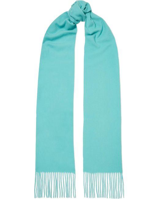 Acne - Blue Canada Skinny Fringed Wool Scarf - Lyst