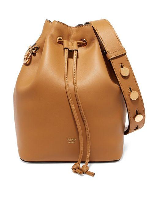 Fendi - Brown Mon Trésor Leather Bucket Bag - Lyst ... 5262fa83ff0c2