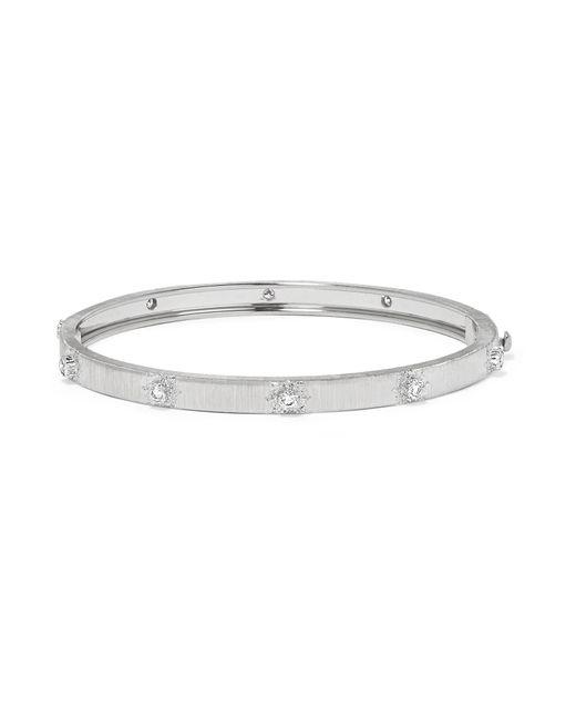 Buccellati | Metallic Macri 18-karat White Gold Diamond Bracelet | Lyst