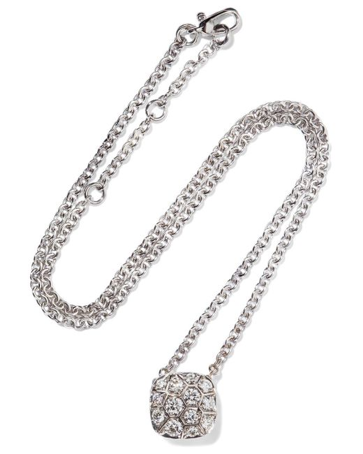 Pomellato - Metallic Nudo Solitaire 18-karat White And Rose Gold Diamond Necklace - Lyst
