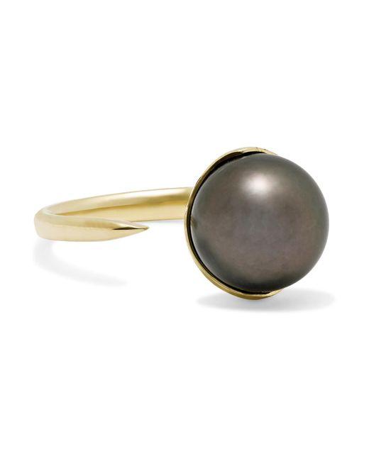 Mizuki | Metallic 14-karat Gold Pearl Ring | Lyst