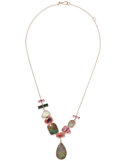 Melissa Joy Manning - Metallic 14-karat Yellow And Rose Gold Multi-stone Necklace Gold One Size - Lyst
