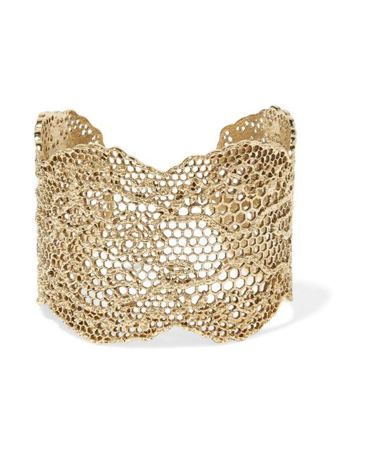 Aurelie Bidermann - Metallic Lace Gold-plated Cuff - Lyst