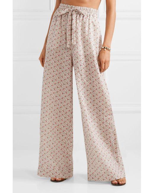 070ba03827 ... Zimmermann - Multicolor Heathers Floral-print Linen High-rise Wide-leg  Pants ...