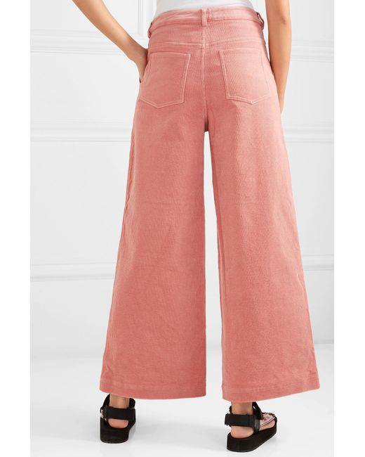 4e23ec9e8c9b34 ... Ganni - Pink Ridgewood High Waisted Corduroy Trousers - Lyst ...