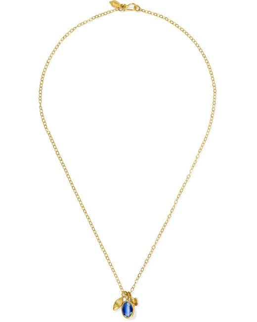 Pippa Small - Metallic 18-karat Gold Kyanite Necklace - Lyst