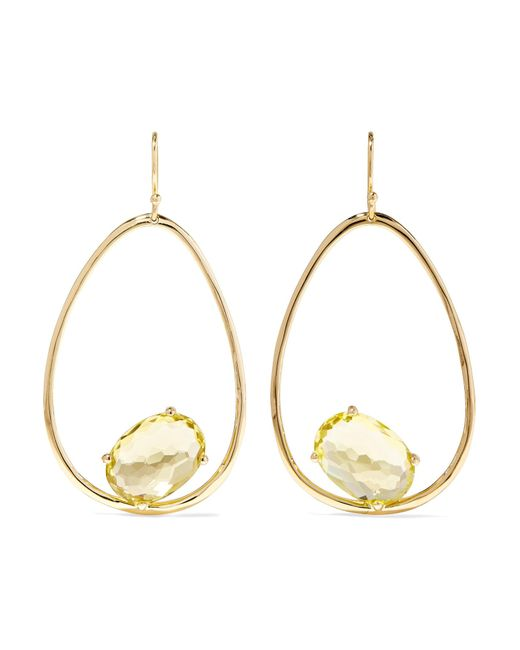 Ippolita - Metallic Rock Candy 18-karat Gold Citrine Earrings - Lyst