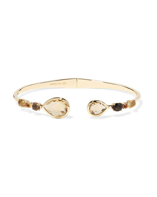 Ippolita - Metallic Rock Candy 18-karat Gold, Citrine And Quartz Cuff - Lyst