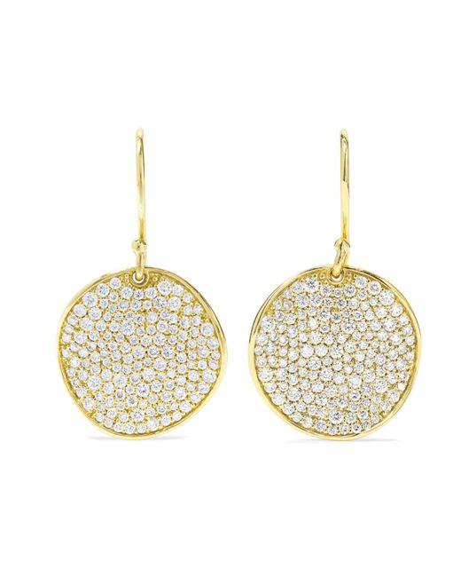 Ippolita - Metallic Stardust Flower 18-karat Gold Diamond Earrings - Lyst